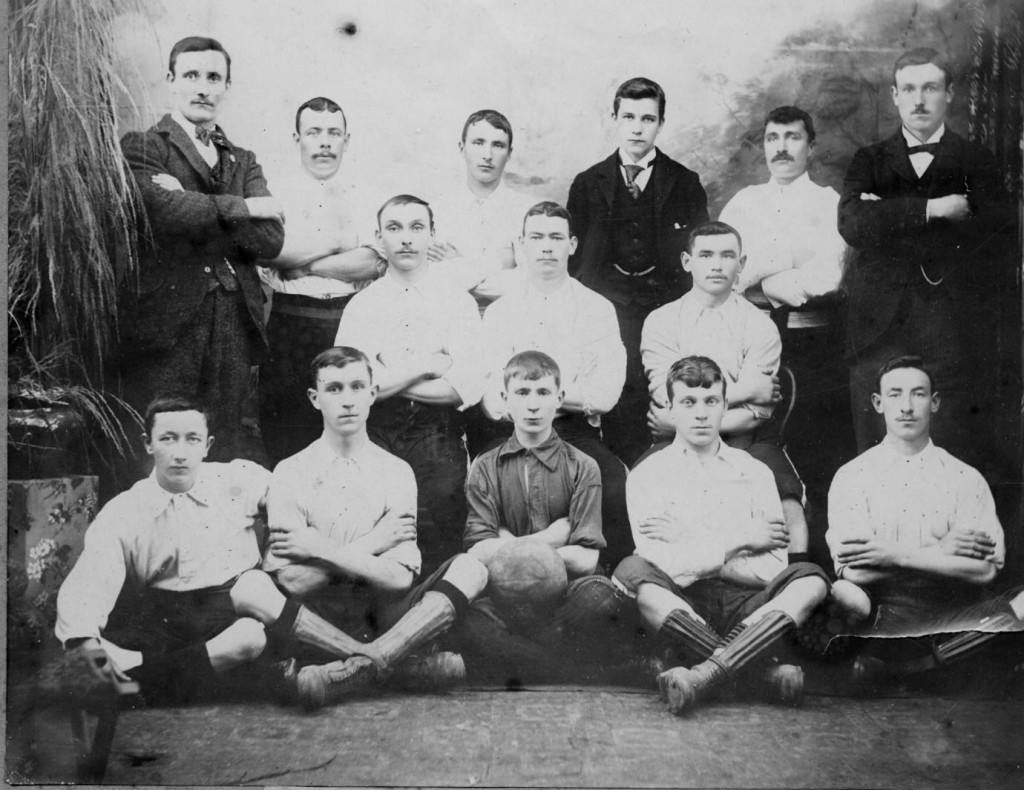 Gracedieu Emmets FC, a Waterford side, c. 1898. Courtesy of Paul Elliott. This club was likely named after Robert Emmet, the Irish revolutionary.