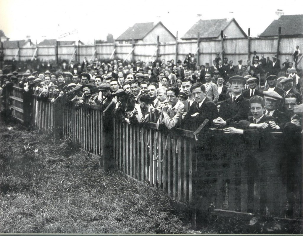 Crowds watch Cork City FC train at Turner's Cross, c. 1936
