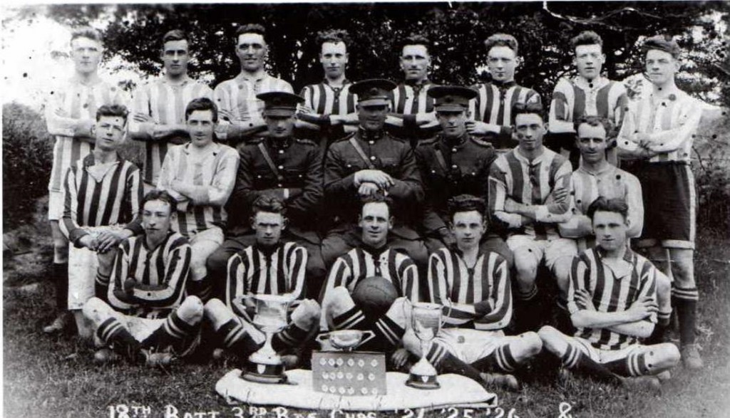 A Free State Army soccer team from Waterford c. 1926. Courtesy of Paul Elliott.