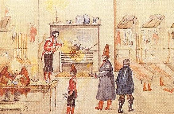 Barrack Room, New Brunswick, 1854