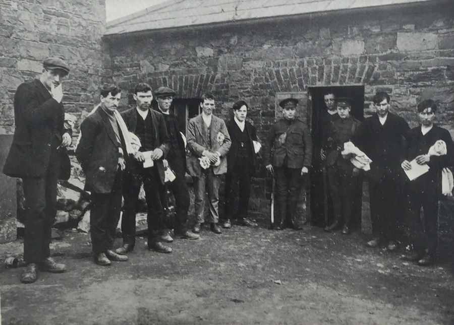 Rebel prisoners in Richmond Barracks