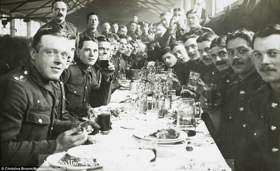 Christmas at Chelsea Barracks, 1915